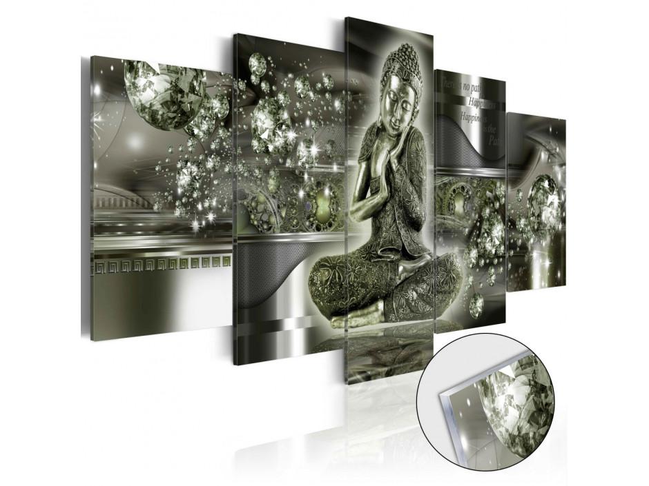 Tableau sur verre acrylique  Emerald Buddha [Glass]