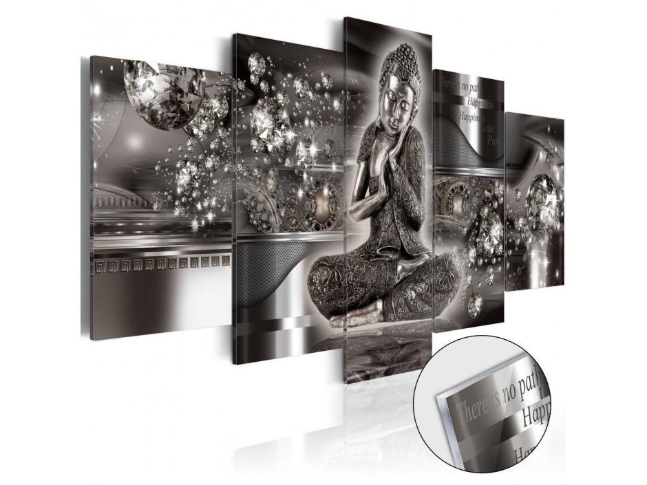 Tableau sur verre acrylique Silver Serenity [Glass]