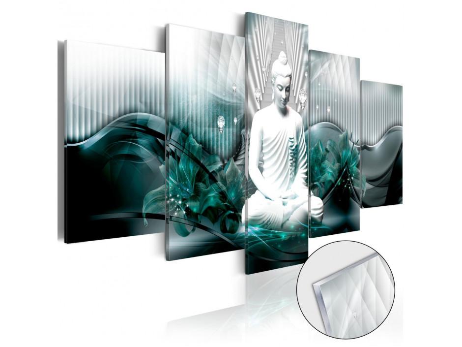 Tableau sur verre acrylique  Azure Meditation [Glass]