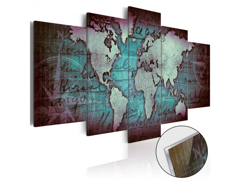 Tableau sur verre acrylique  Acrylic prints – Bronze map II