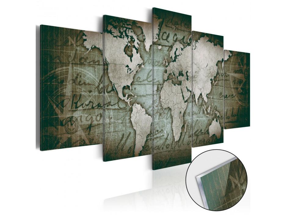 Tableau sur verre acrylique  Acrylic prints – Bronze map III
