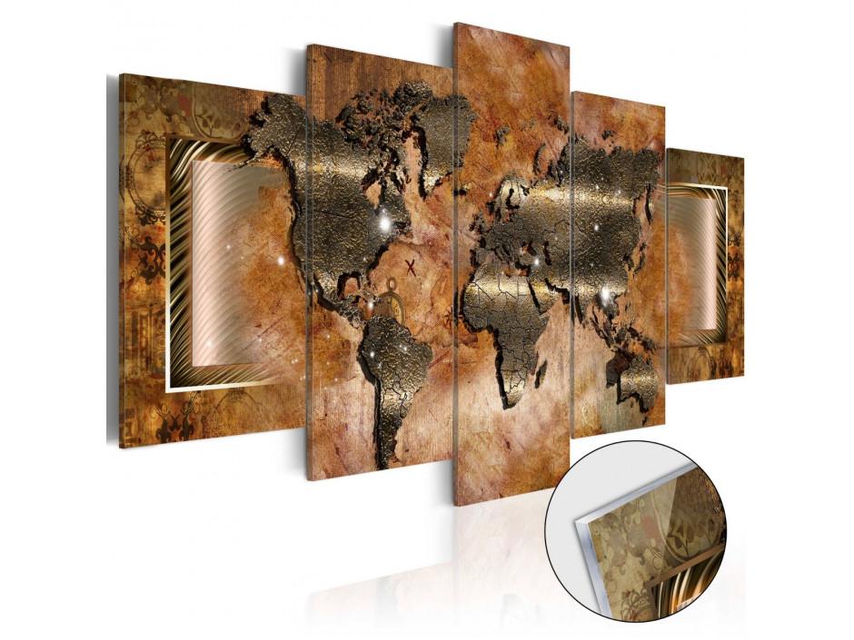 Tableau sur verre acrylique  Steel Map [Glass]