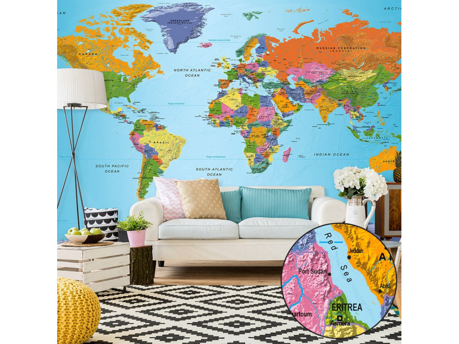 Papier peint XXL  World Map Colourful Geography II
