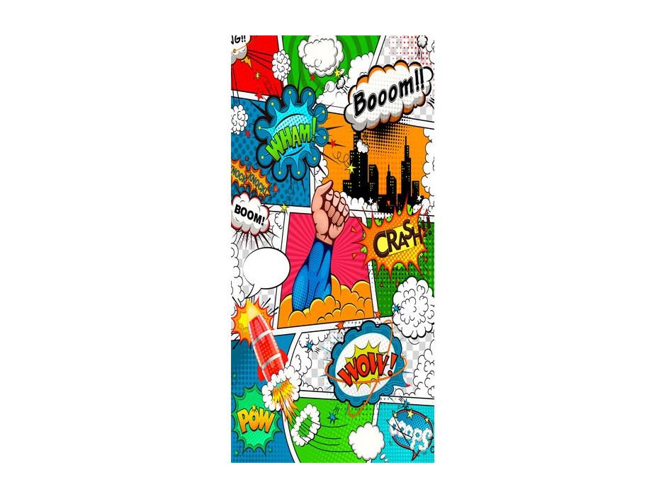 Papierpeint pour porte  Comic World
