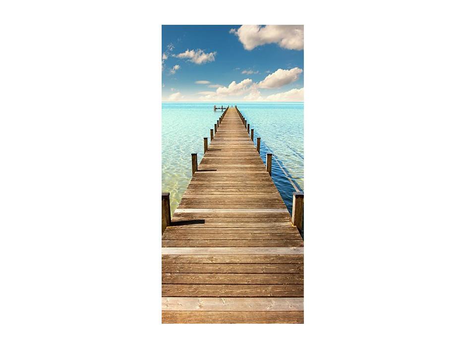 Papierpeint pour porte  Turquoise Harbour