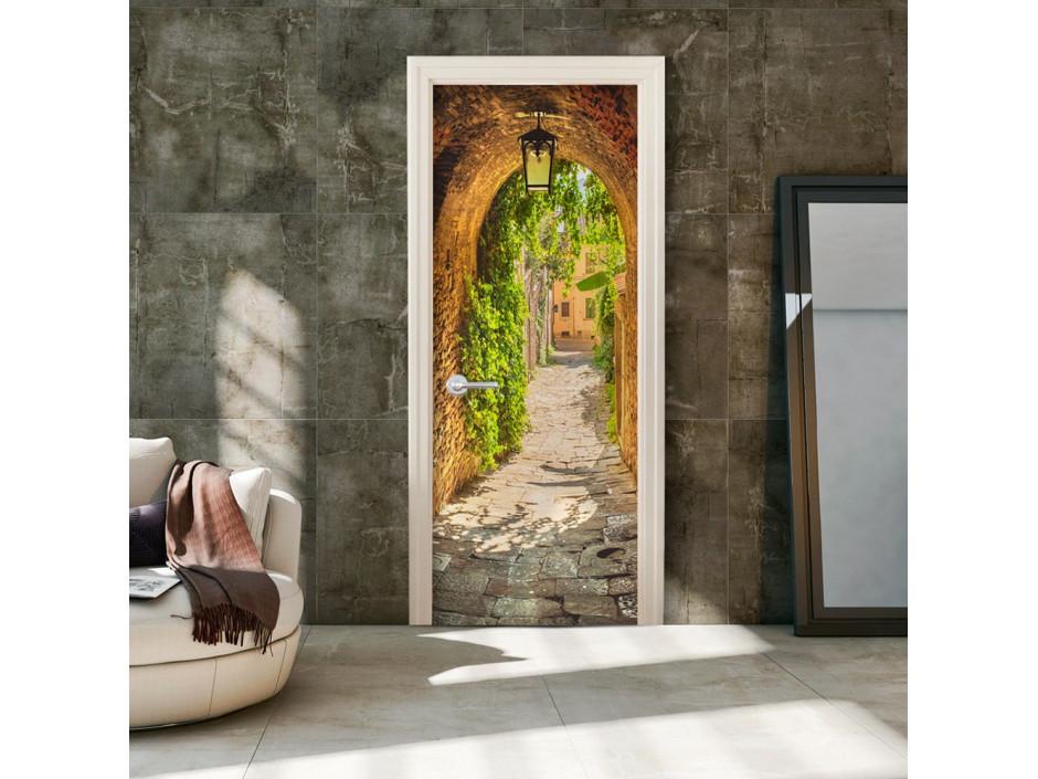 Papier-peint pour porte - Alley in Italy