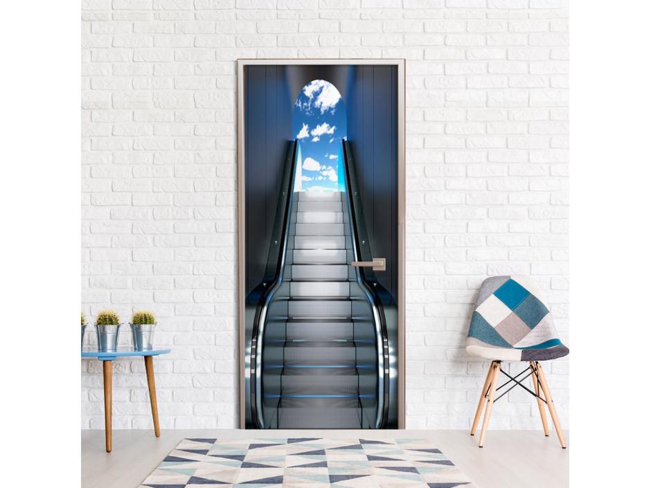 Papier-peint pour porte -  Escalator