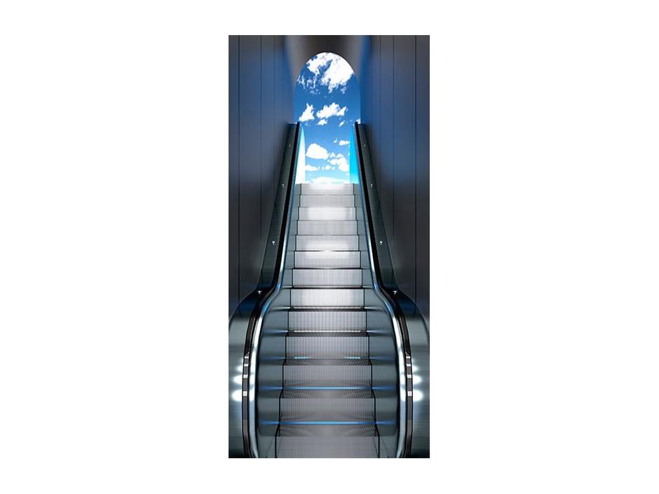 Papierpeint pour porte   Escalator