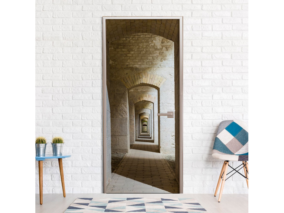 Papier-peint pour porte - Mysterious Corridor