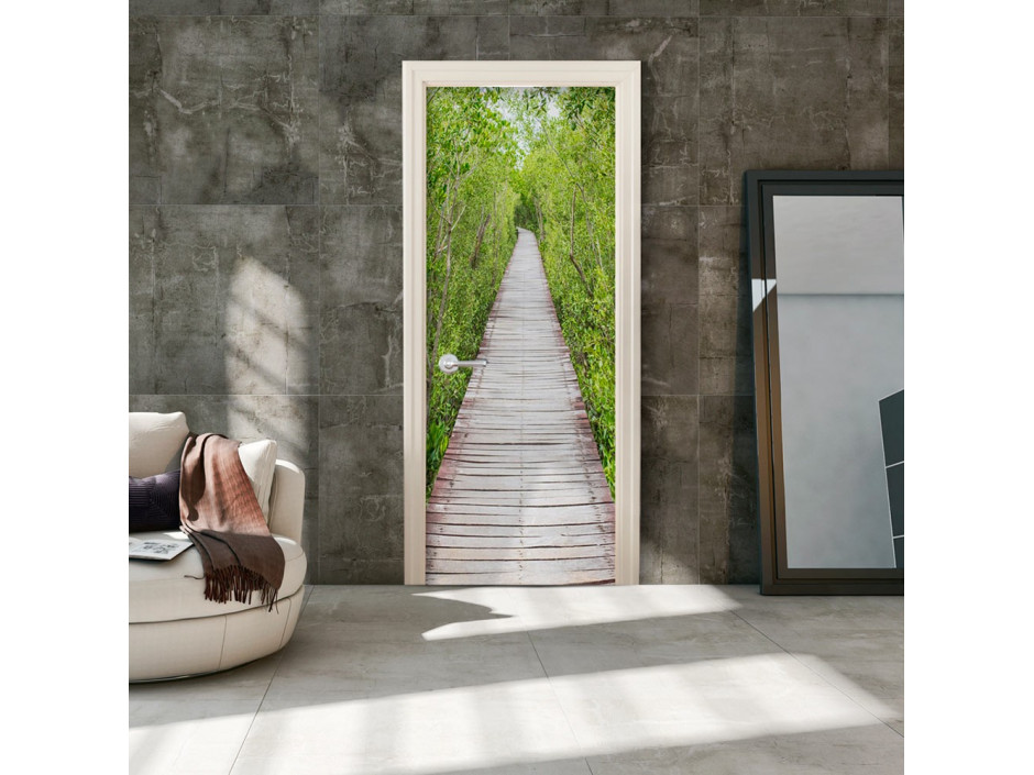 Papier-peint pour porte - The Path of Nature