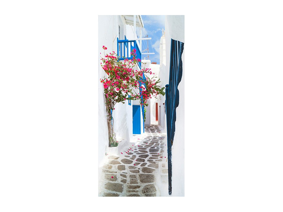 Papierpeint pour porte  Walk through Santorini