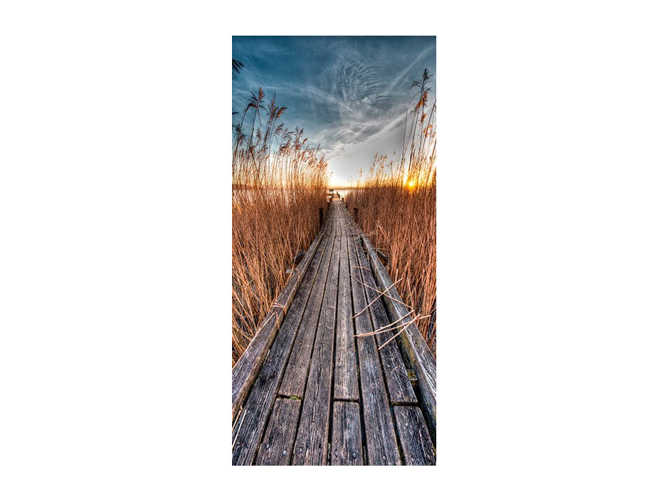 Papierpeint pour porte  Photo wallpaper  Pier on the lake I