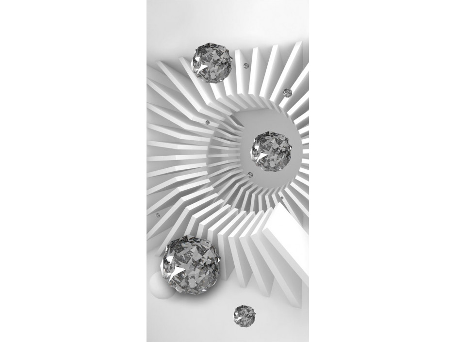 Papierpeint pour porte  Photo wallpaper  Black and white abstraction I