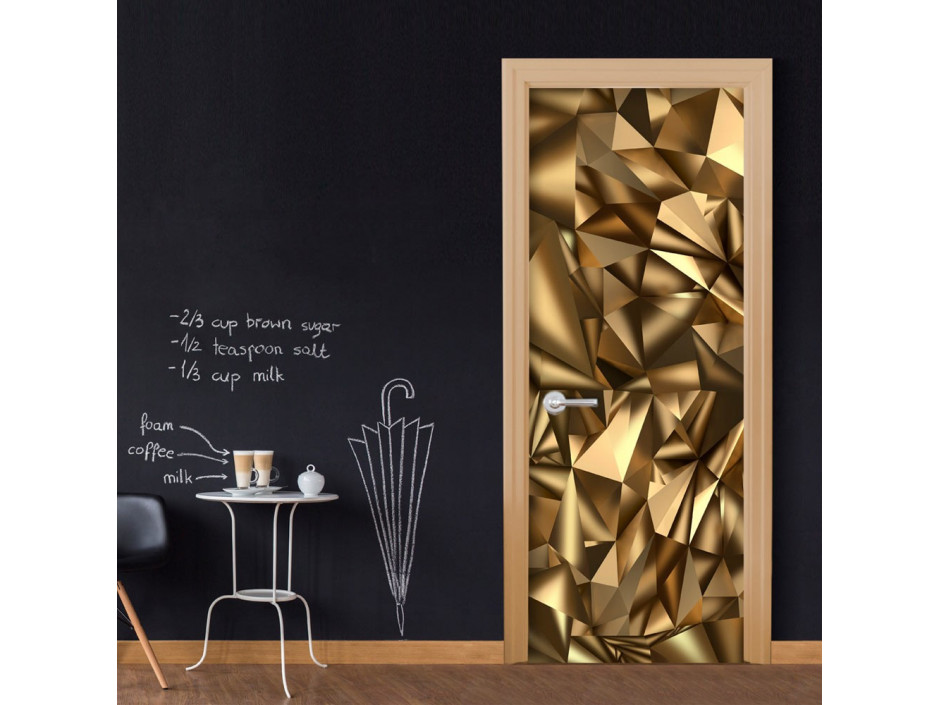 Papierpeint pour porte  Photo wallpaper  Golden Geometry I