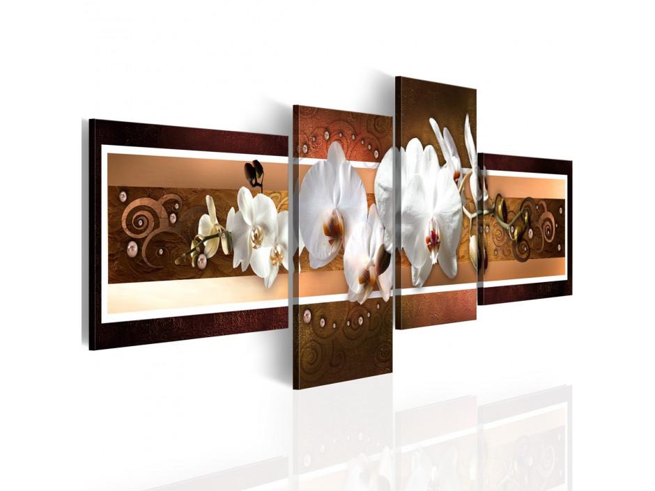 Tableau - Orchidées élégantes dans l'abstraction