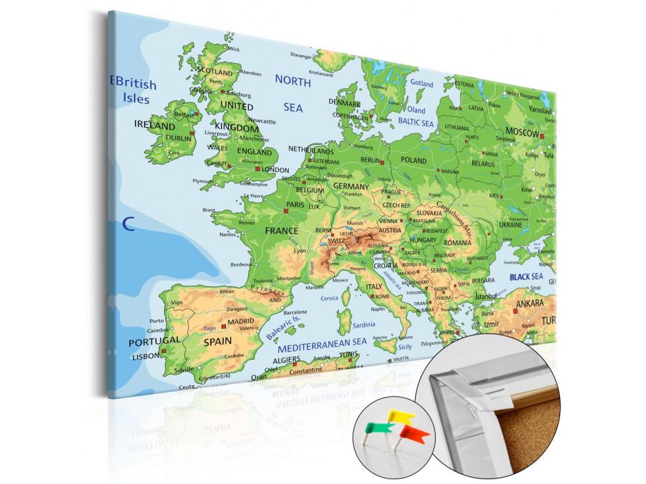 Tableau en liège  Europe [Cork Map]