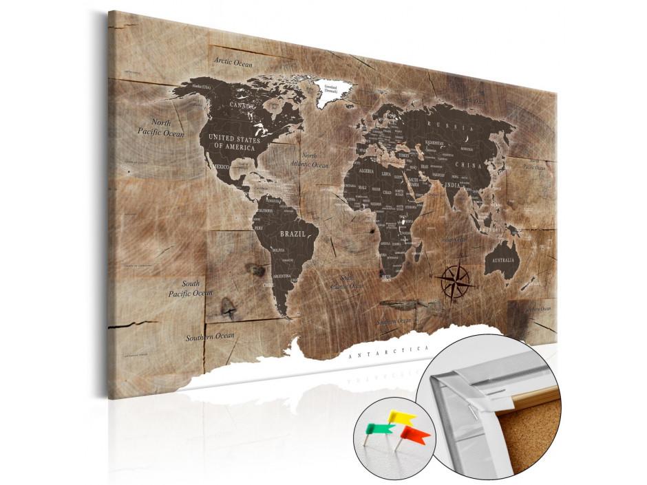 Tableau en liège  Wooden Mosaic [Cork Map]