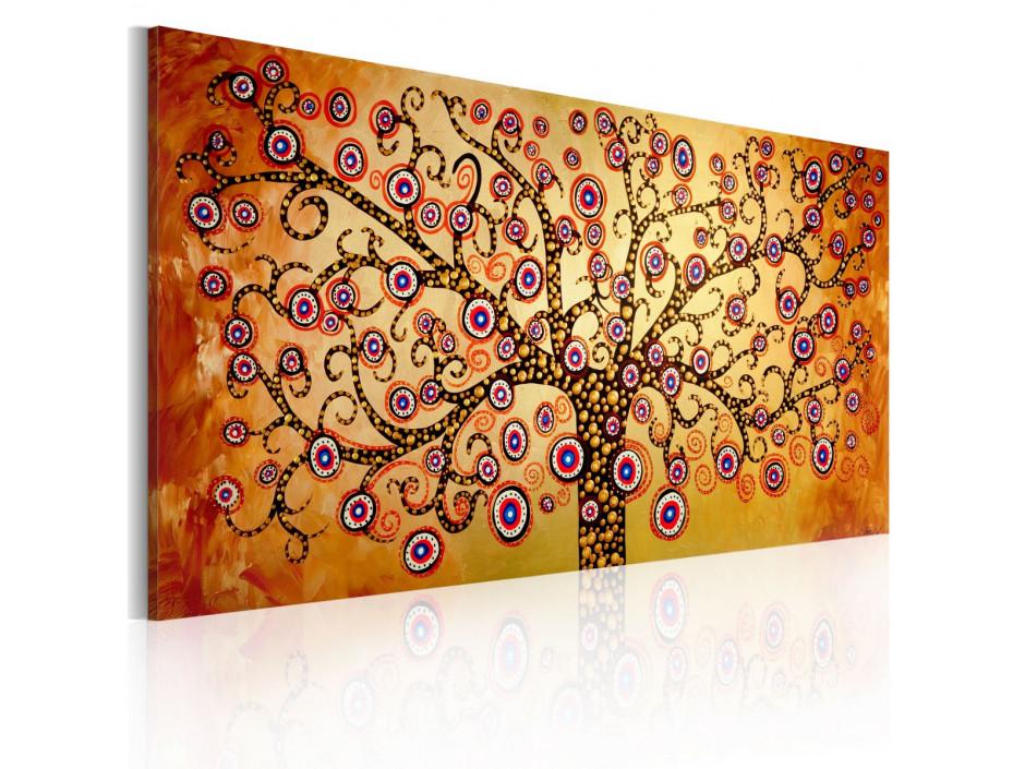 Tableau peint à la main  Arbre de paon