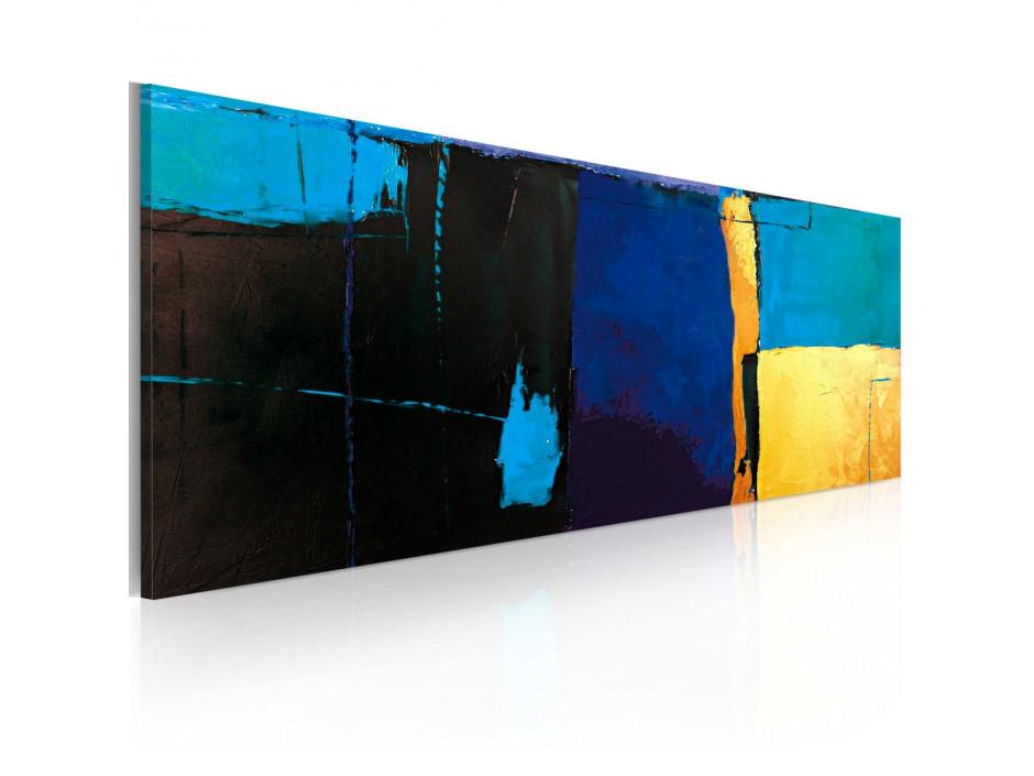 Tableau peint à la main  La fascination pour la couleur bleue