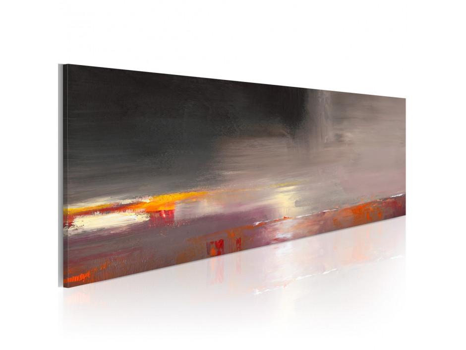 Tableau peint à la main  Mer cachée dans le brouillard