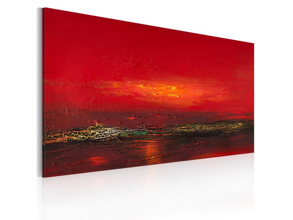 Tableau peint à la main  Coucher de soleil sur la mer Rouge