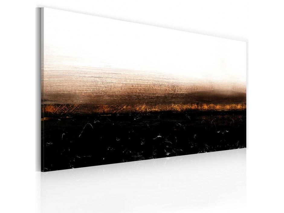 Tableau peint à la main Black soil (Abstraction)