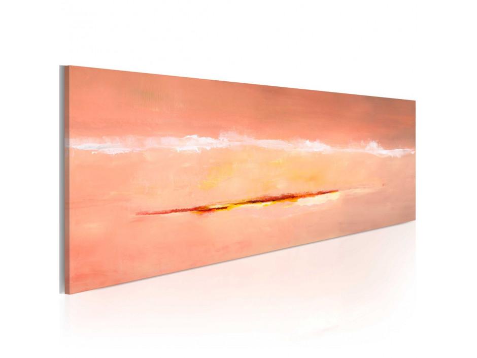 Tableau peint à la main  Aurore abstraite