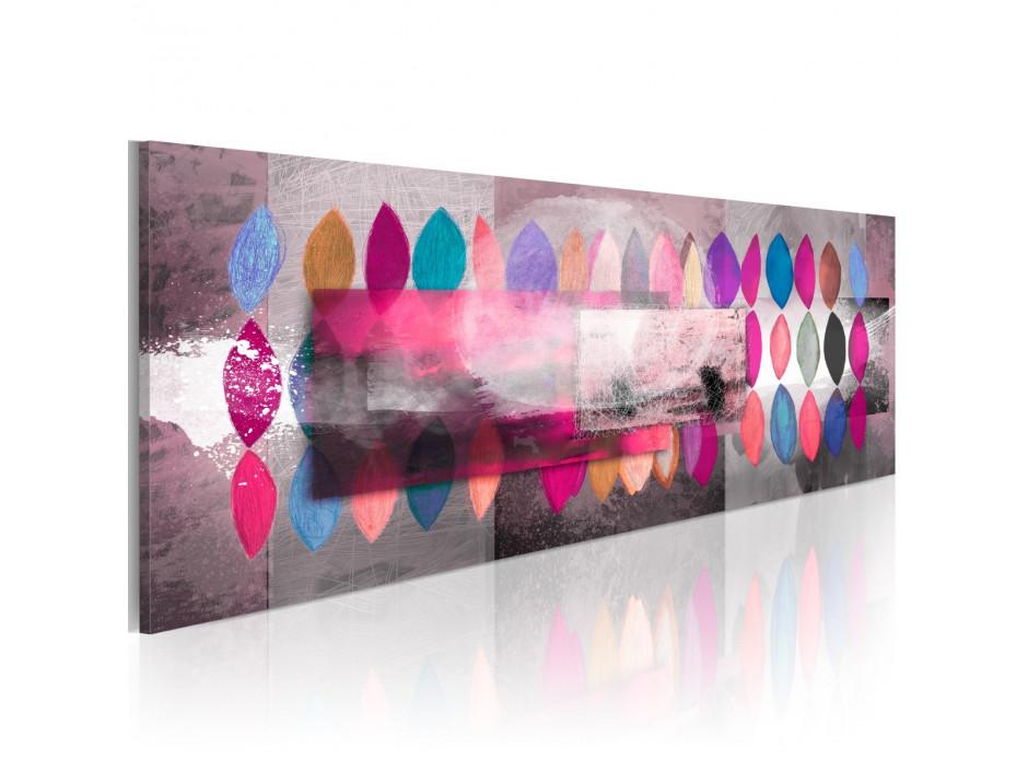 Tableau peint à la main Palette de couleurs