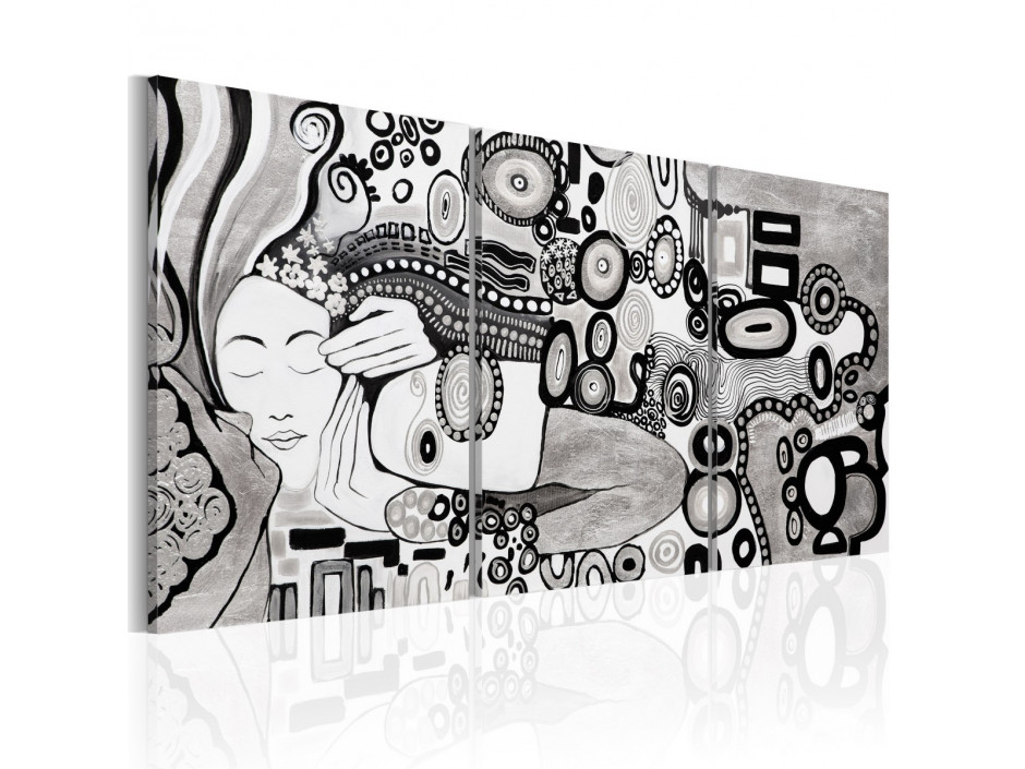 Tableau peint à la main  Silver Kiss
