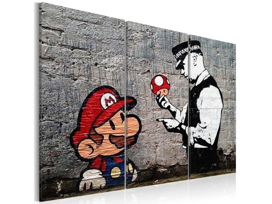 Tableau  Super Mario Mushroom Cop by Banksy
