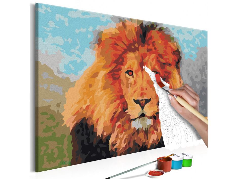 Tableau à peindre par soi-même - Lion