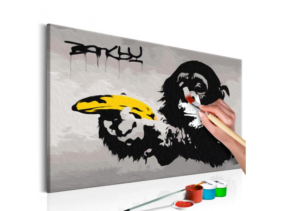 Tableau à peindre par soi-même - Singe (Banksy Street Art Graffiti)