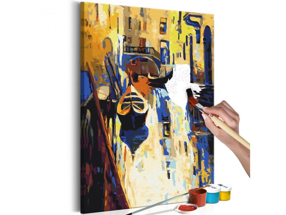 Tableau à peindre par soi-même - Venise (gondoles)