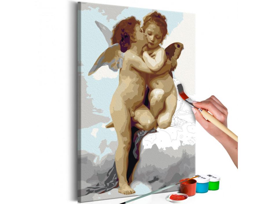 Tableau à peindre par soi-même - Anges (amour)