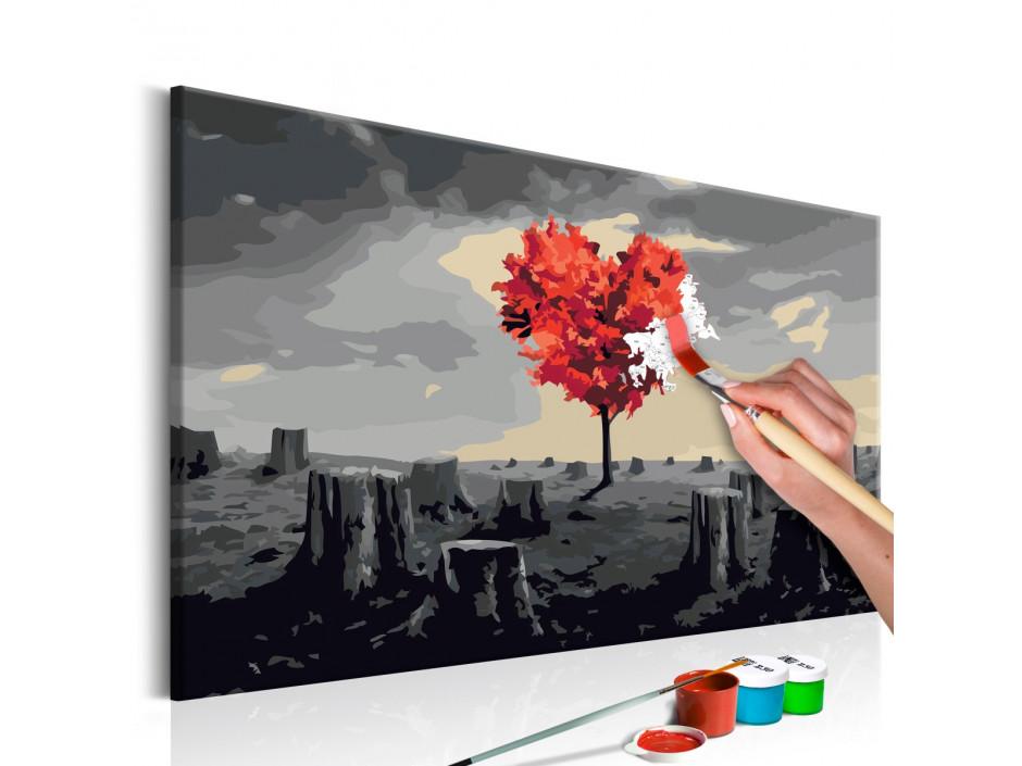 Tableau à peindre par soi-même - Arbre en forme de coeur