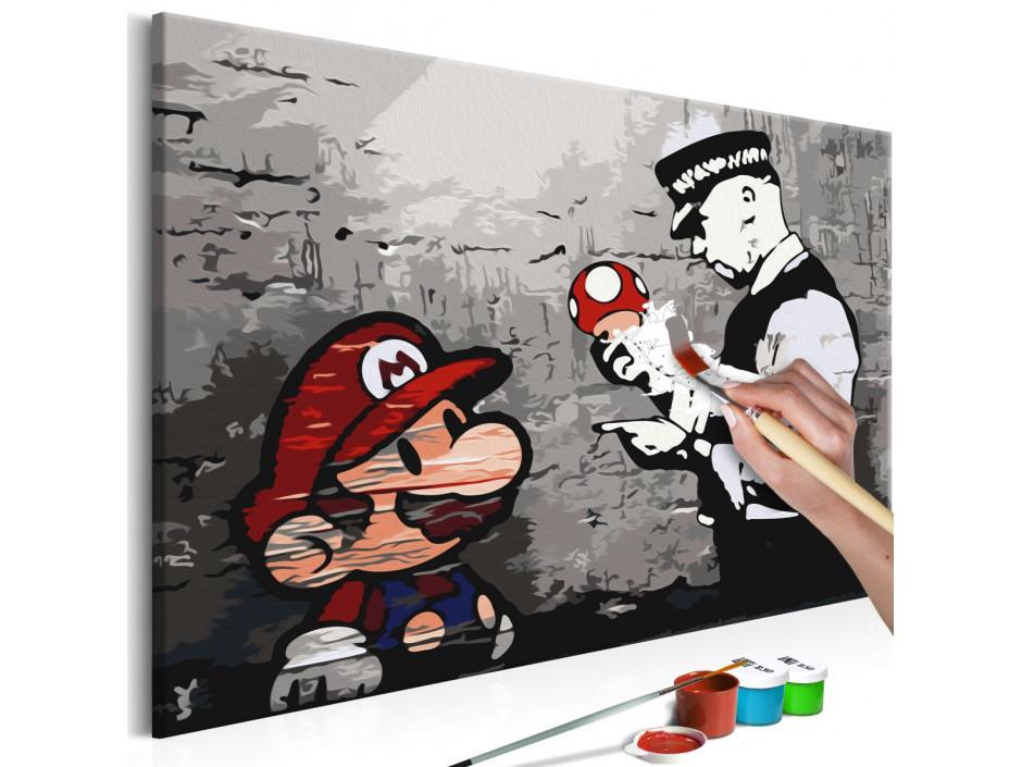 Tableau à peindre par soi-même - Mario (Banksy)