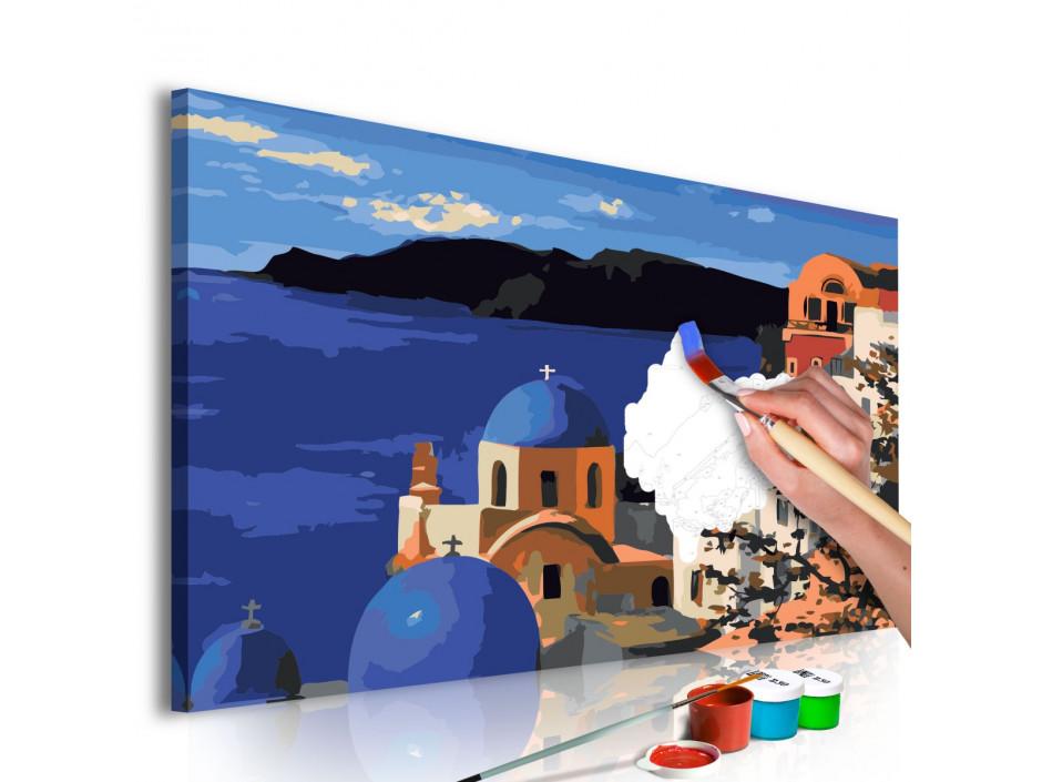 Tableau à peindre par soimême  Santorini