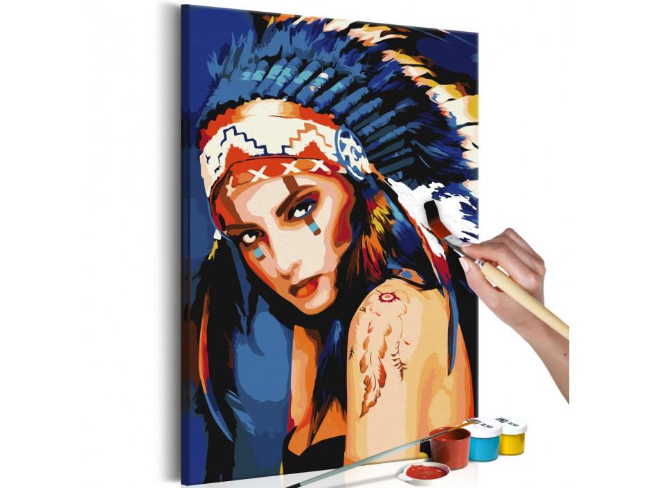 Tableau à peindre par soimême  Indienne