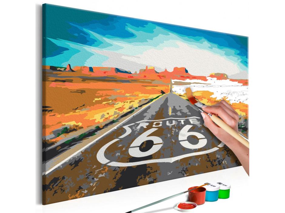 Tableau à peindre par soimême  Route 66