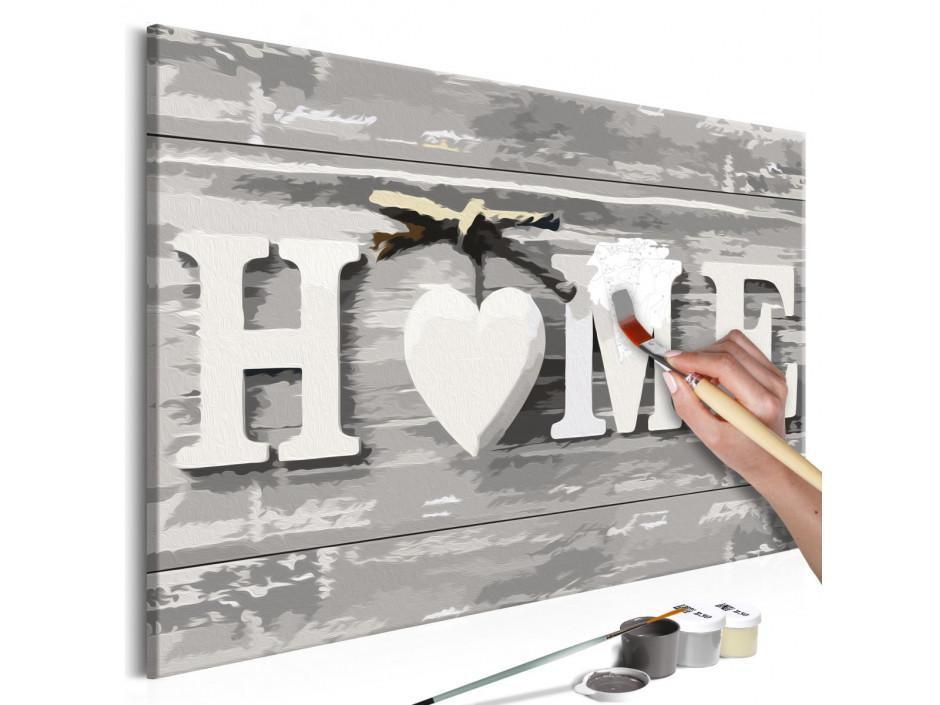 Tableau à peindre par soimême  Home (texte)
