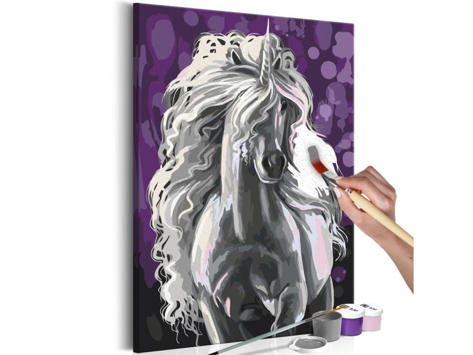 Tableau à peindre par soimême  Licorne blanche