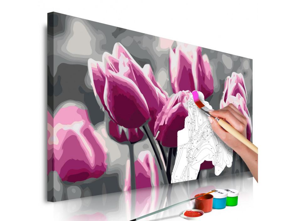 Tableau à peindre par soimême  Champ de tulipes