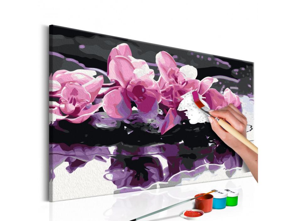 Tableau à peindre par soimême  Orchidée violette