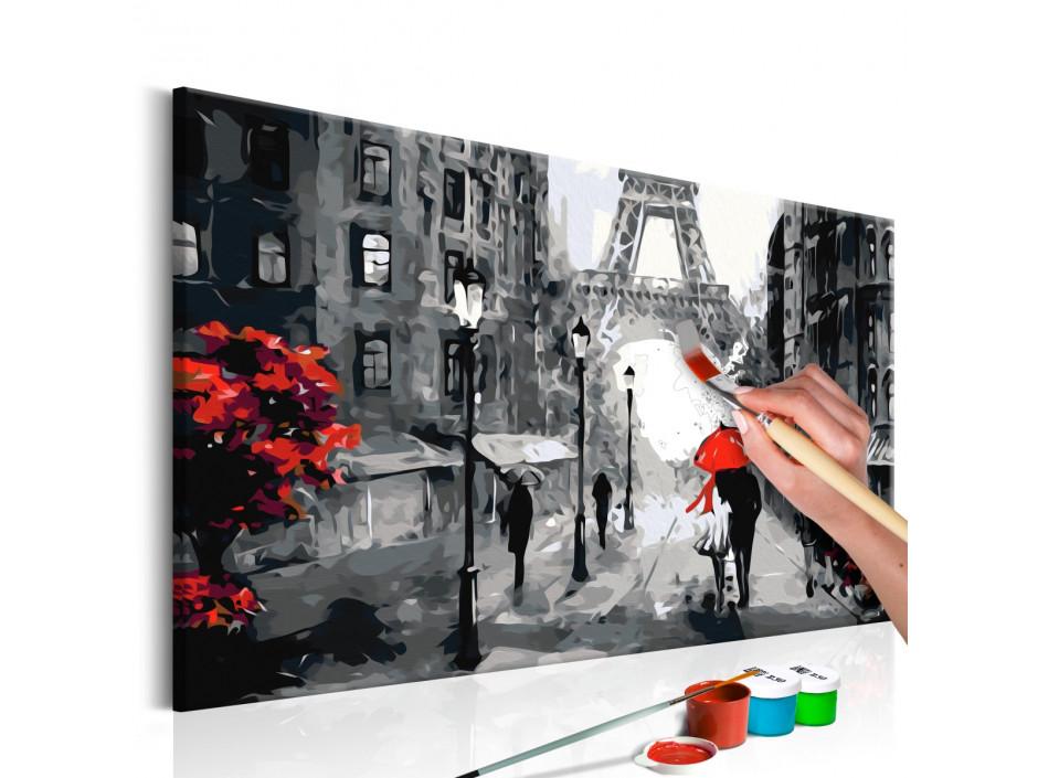Tableau à peindre par soimême  Amoureux à Paris