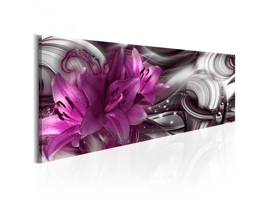 Tableau - Fond violet