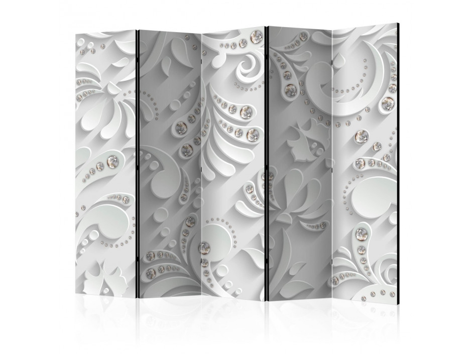 Paravent 5 volets Flowers in Crystals II [Room Dividers]