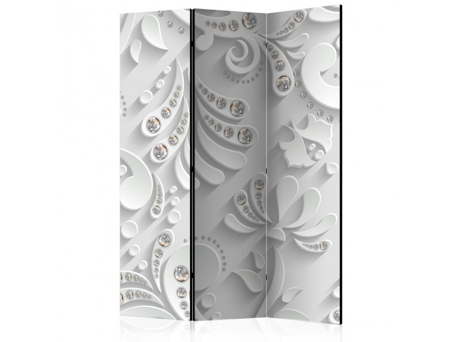 Paravent 3 volets Flowers in Crystals [Room Dividers]