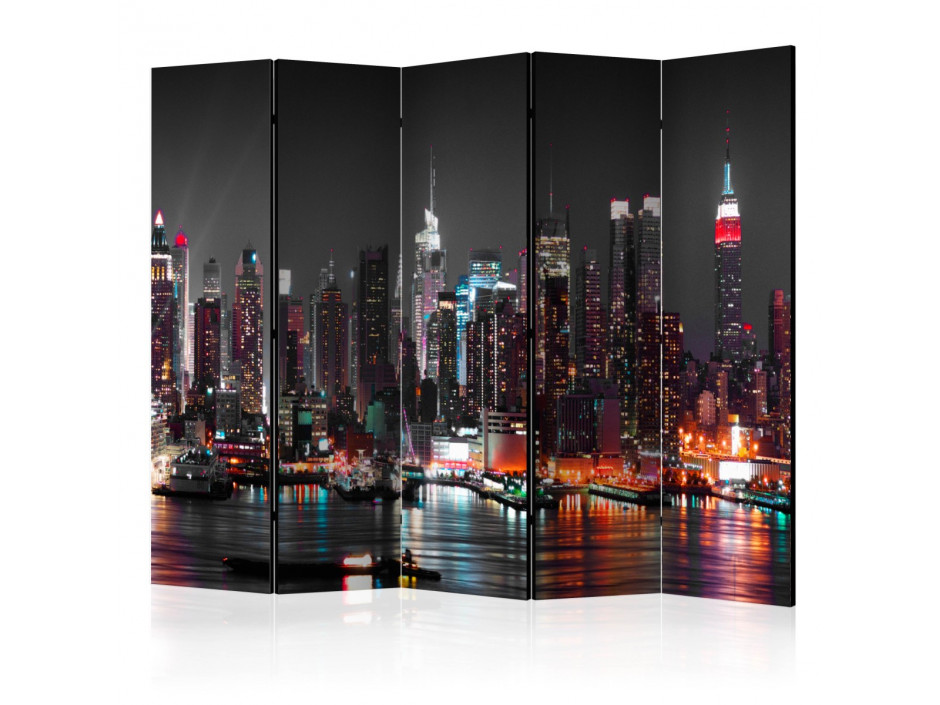 Paravent 5 volets Insomnia in New York II [Room Dividers]