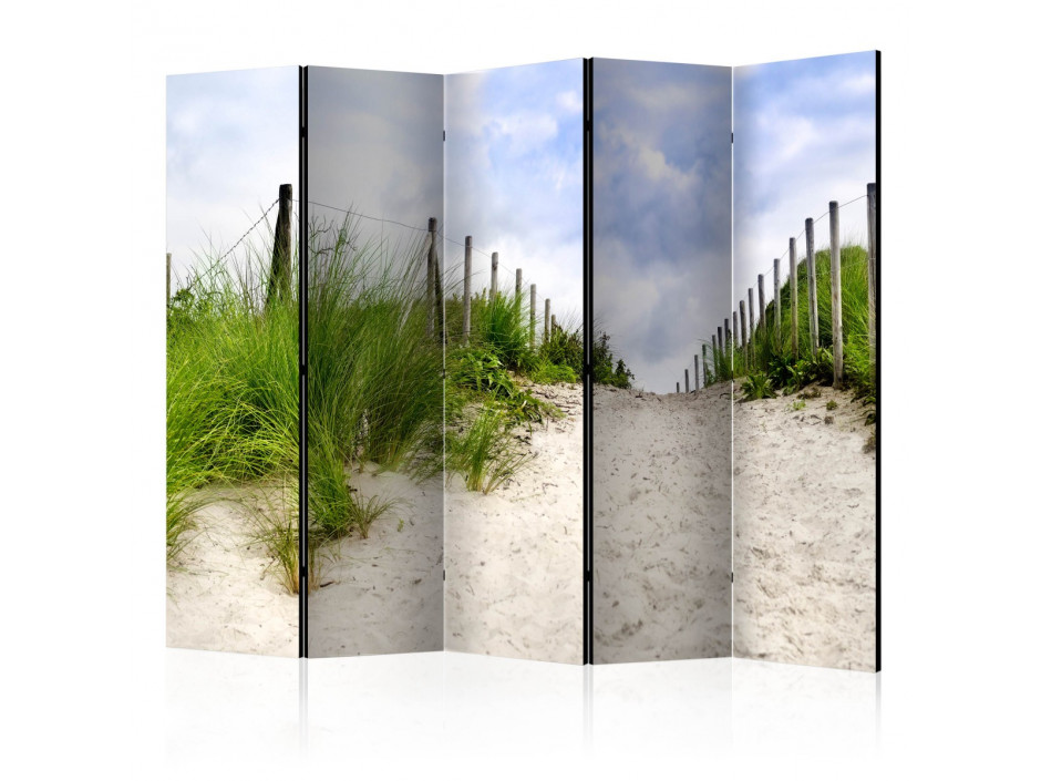 Paravent 5 volets Path to the Sea II [Room Dividers]