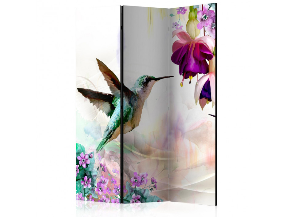 Paravent 3 volets Hummingbirds and Flowers [Room Dividers]